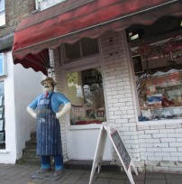 Alder's butchers shop front