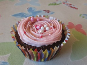 Beetroot fairy cakes