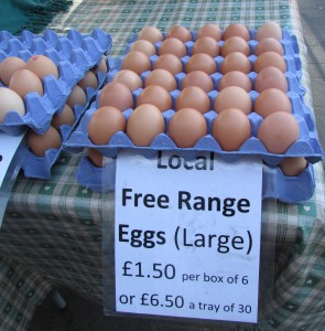 large farm eggs from headington market