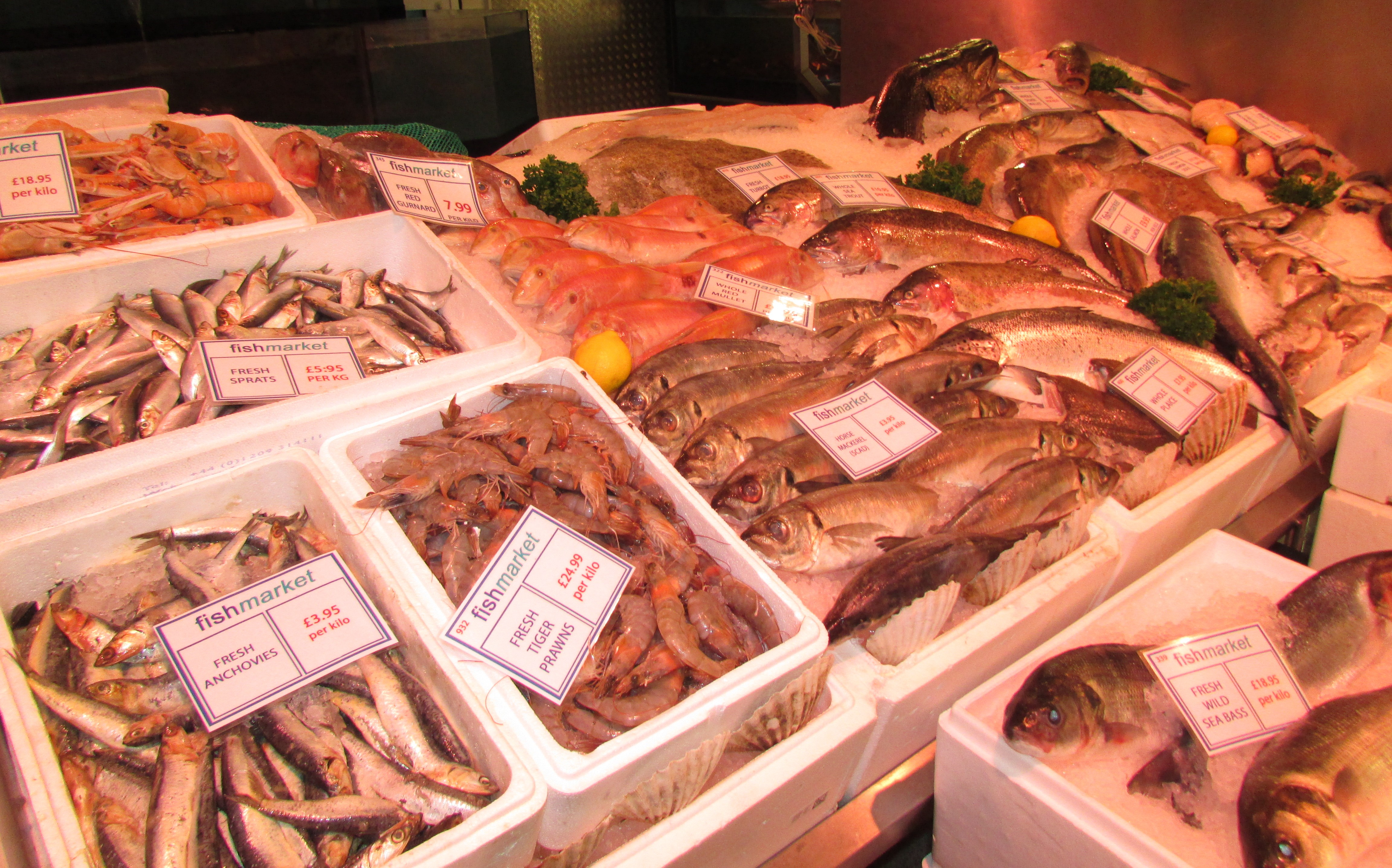 Fish market oxford off botley road feed a family oxford for Plenty of fish cost