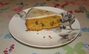 Carrot and orange almond cake