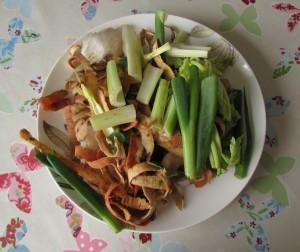 Food waste soup ingredients