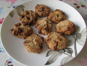 Leftover porridge makes oatmeal raisin biscuits