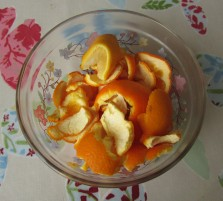 Orange and lemon peel
