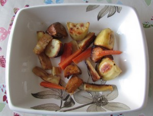 Leftover veg from a roast dinner