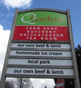 Q Gardens sign