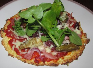 Leftover Rice pizza crust