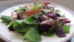 beetroot mackerel salad