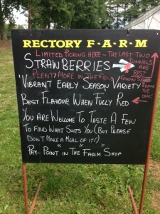 Rectory farm strawberries