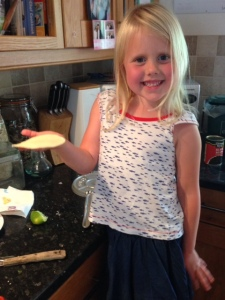 Melissa making gluten free tacos