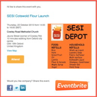 Sesi Launching Cotswolds flour